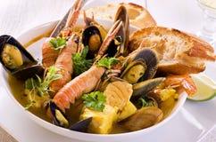 Soupe à fruits de mer Photos stock