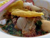 Soupe à fruits de mer de nouille Image stock
