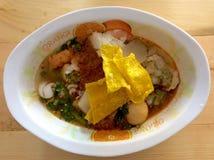 Soupe à fruits de mer de nouille Image libre de droits