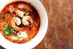 Soupe à fruits de mer de nouille Photos stock