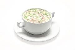 Soupe à gâchis dans un piala blanc Images stock