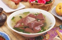 Soupe à gelée de sang de porc photos stock