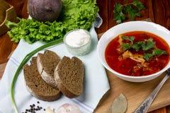 Soupe à la betterave, borscht photographie stock libre de droits