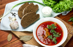 Soupe à la betterave, borscht image libre de droits