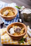 Soupe à lentille avec des champignons Photo libre de droits