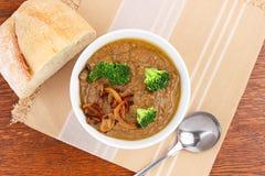 Soupe à lentille avec des légumes Photos stock