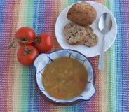 Soupe à lentille végétarienne italienne Images libres de droits