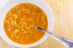 Soupe à lettre Photos stock