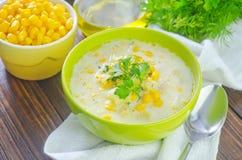 Soupe à maïs Photographie stock libre de droits