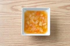 Soupe à macaronis Photographie stock libre de droits