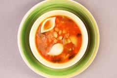 Soupe à minestrone Images libres de droits