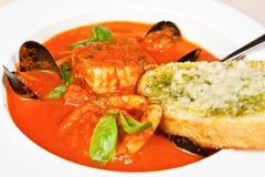 Soupe à minestrone de tomate photo libre de droits