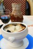 Soupe à oignon Photographie stock