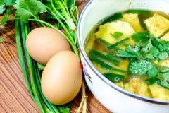 Soupe à omelette photo libre de droits
