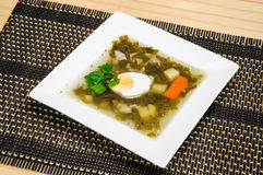 Soupe à oseille Photo stock
