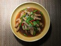 Soupe à pied de poulet Image stock