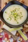 Soupe à poireau Photo libre de droits