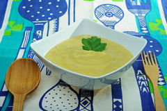 Soupe à poireaux Image libre de droits