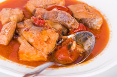 Soupe à poissons. Photo stock