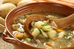 Soupe à Potatoe Photos stock