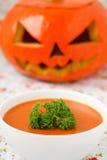 Soupe à potiron. Photos libres de droits