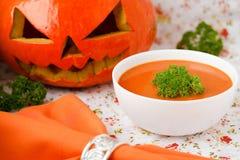 Soupe à potiron. Image stock