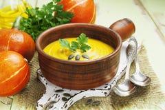 Soupe à potiron Photos stock