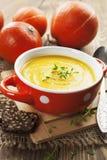 Soupe à potiron Image stock