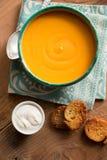 Soupe à potiron photo stock