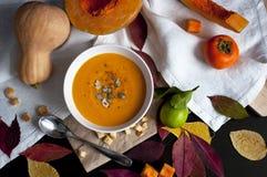 Soupe à potiron Photographie stock libre de droits
