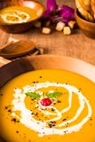 Soupe à potiron NON 002 images stock