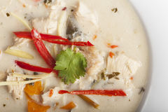 Soupe à Tom Kha Gai Image stock