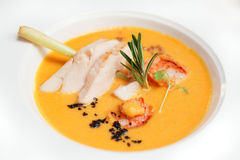 Soupe à Tom yum avec des poissons Image libre de droits