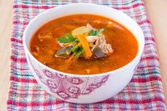 Soupe à tomate Images libres de droits