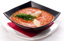 Soupe à tomate photographie stock libre de droits