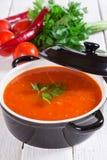 Soupe à tomate image stock