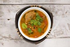 soupe à tomate avec de la viande de soja Photos stock