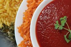 Soupe à tomate, soupe crème à tomate, Images libres de droits