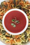 Soupe à tomate, soupe crème à tomate, Image libre de droits