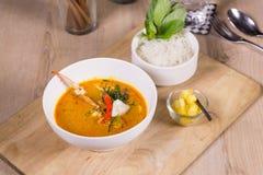 Soupe épicée à crabe Photographie stock
