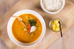 Soupe épicée à crabe Images libres de droits