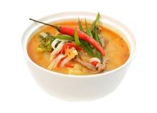 Soupe épicée asiatique avec de la viande Image libre de droits