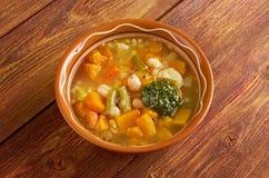 Soupe au Pistou. Rench vegetable soup Stock Image