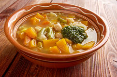 Soupe au Pistou. Rench vegetable soup Royalty Free Stock Photography