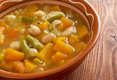 Soupe au Pistou. Rench vegetable soup Royalty Free Stock Photo