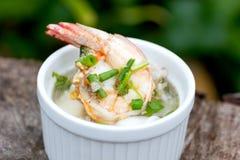 Soupe au riz avec la crevette Photo libre de droits