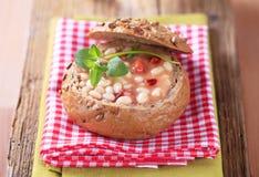 Soupe aux fèves blanc Image libre de droits