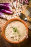 Soupe aux fèves de Pinto - borlotti de Zuppa di fagioli Photographie stock