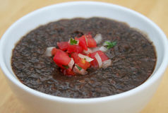 Soupe aux fèves noir Photo libre de droits