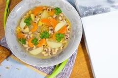 Soupe aux fèves avec le persil Image stock